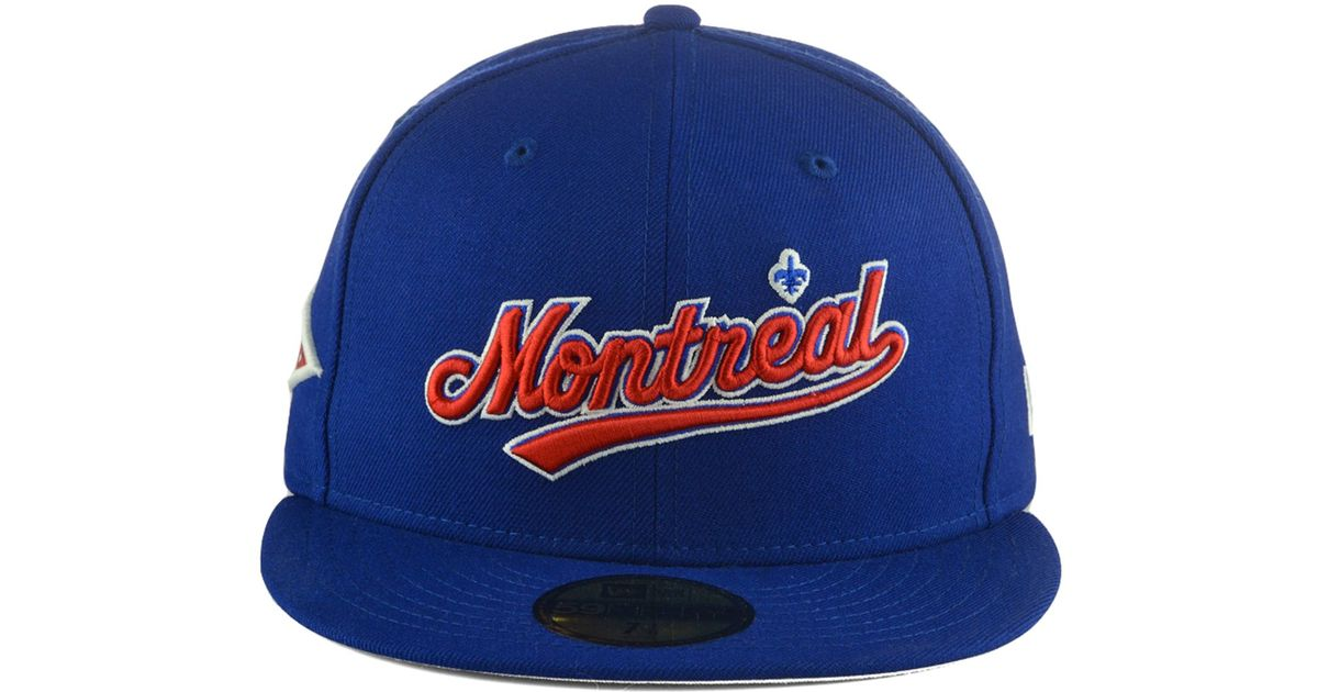 reputable site c27df add78 Lyst - KTZ Montreal Expos Banner Patch 59fifty Cap in Blue for Men