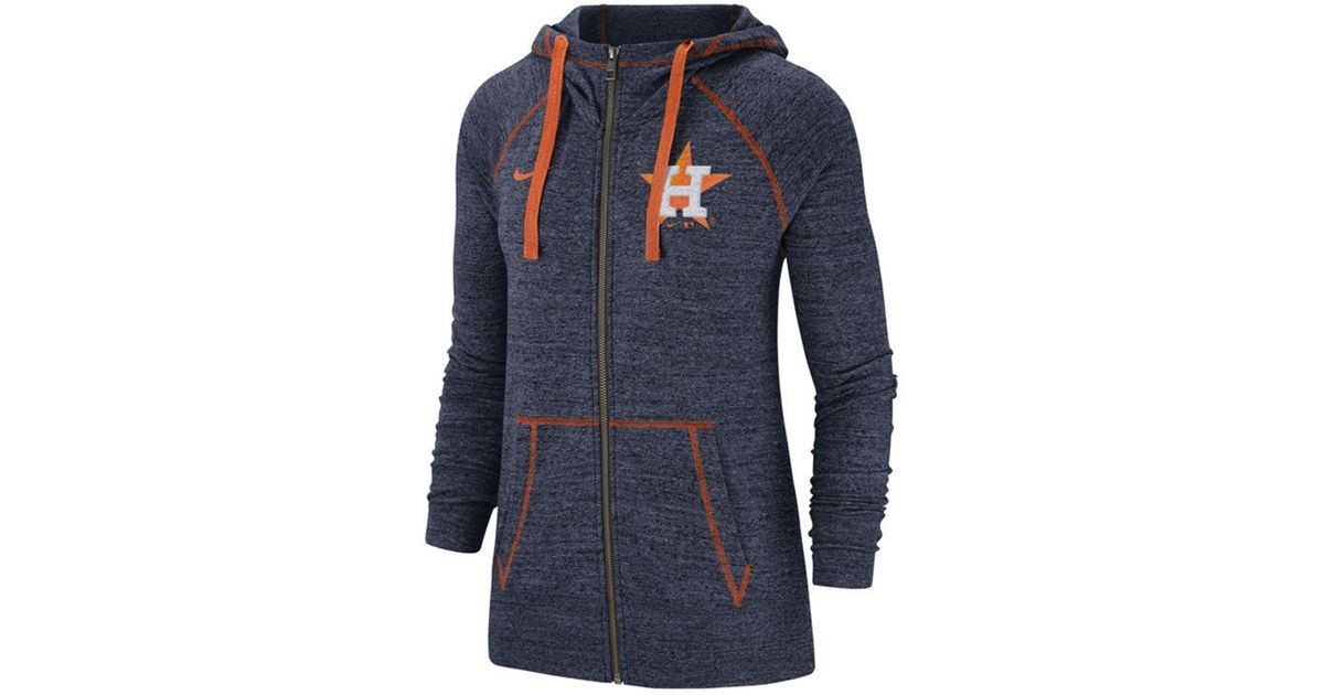 5f142c82e4605 Nike - Blue Houston Astros Gym Vintage Full-zip Hooded Sweatshirt - Lyst
