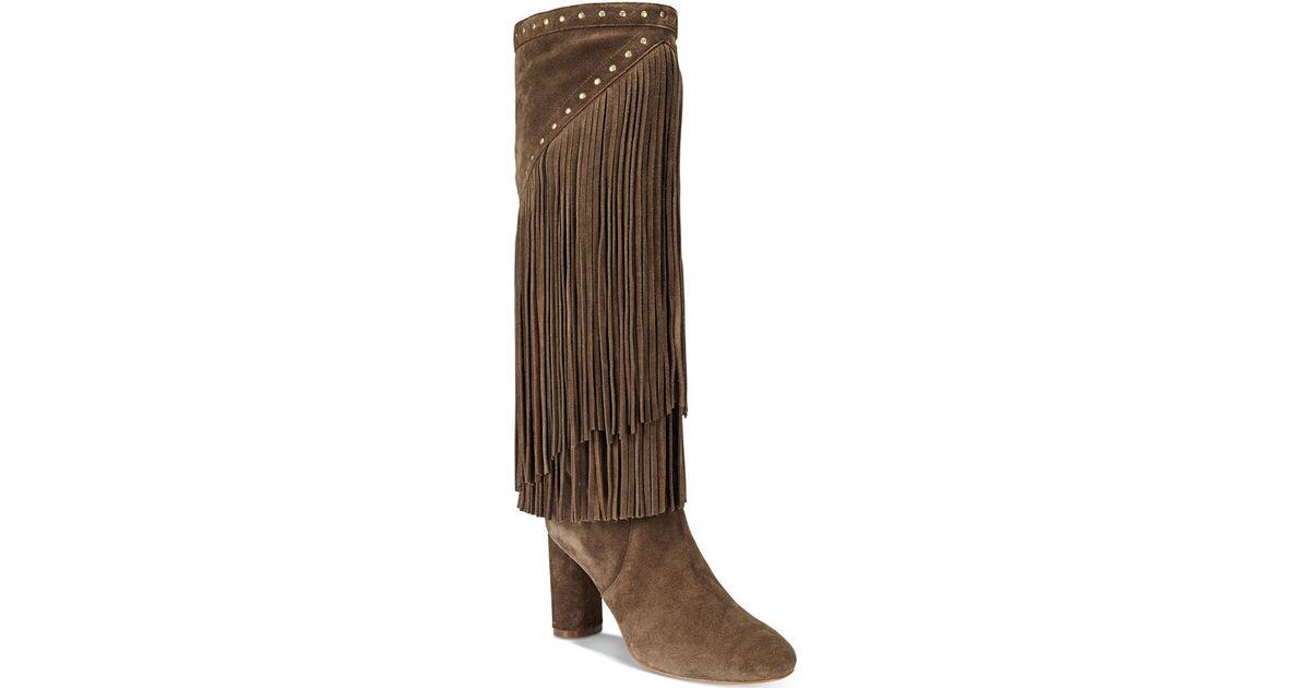 Inc International Concepts Women S Tolla Tall Fringe Boots