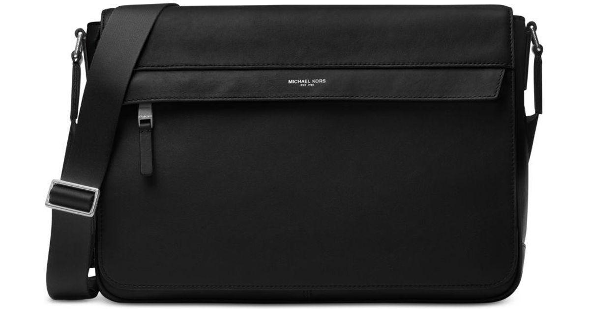 01996b5330d3 Lyst - Michael Kors Men s Odin Resina Large Messenger Bag in Black for Men