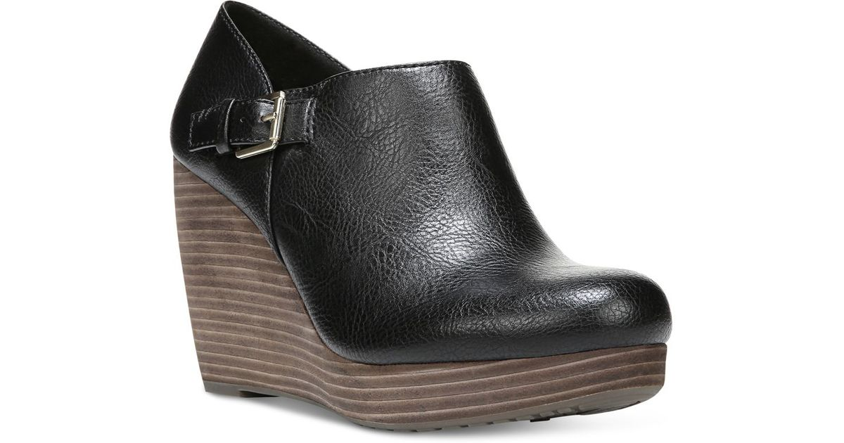 Dr. scholls Honor Platform Wedge Booties in Black