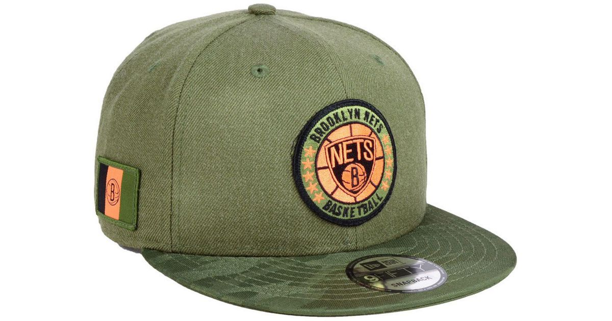 more photos 20030 61a60 ... authentic lyst ktz brooklyn nets tip off 9fifty snapback cap in green  for men 04cab d5c0b