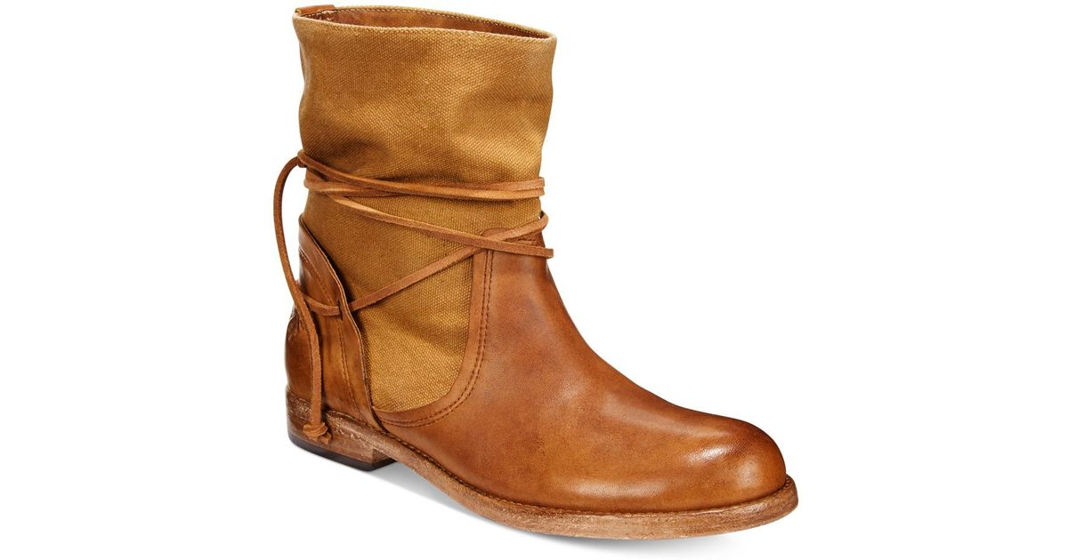 Patricia Nash Sabbia Canvas Mid Boots In Brown Lyst