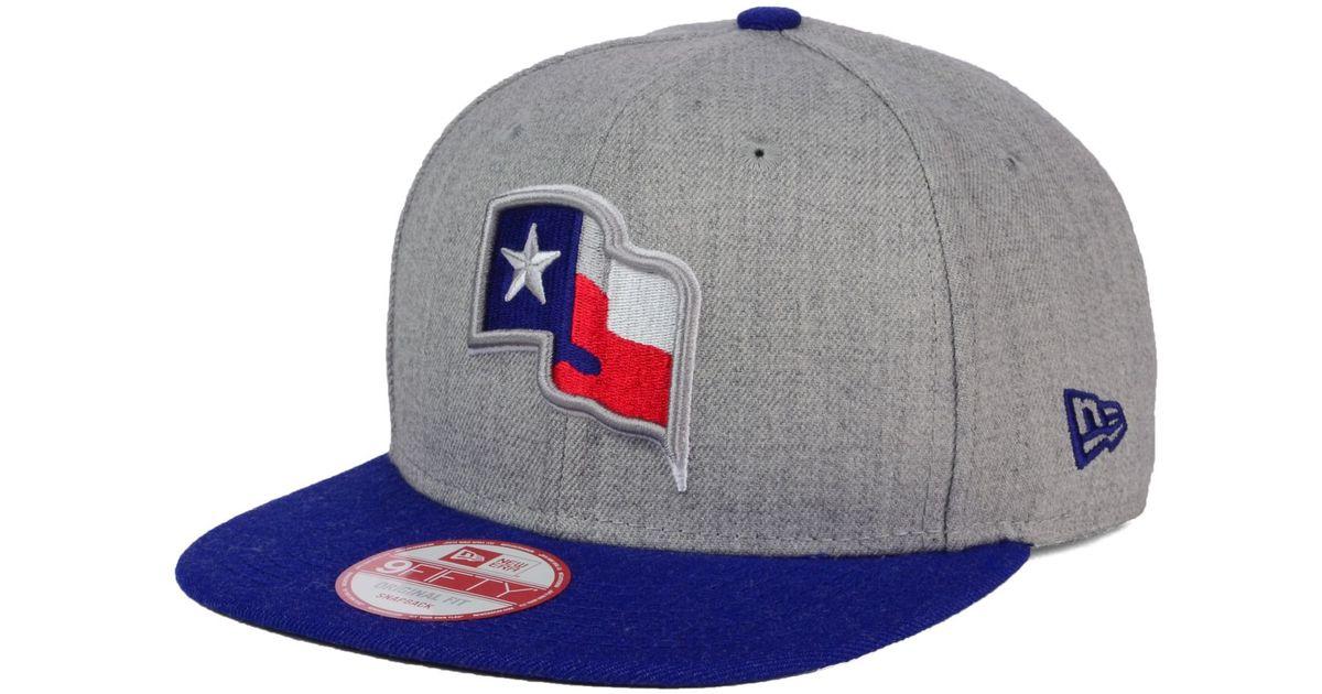 new style 9e855 b6a68 Lyst - KTZ Texas Rangers Heather 2tone Snapback Cap for Men