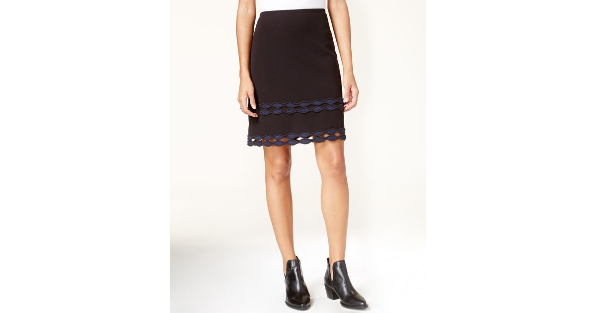 maison jules applique cutout skirt only at macy s in
