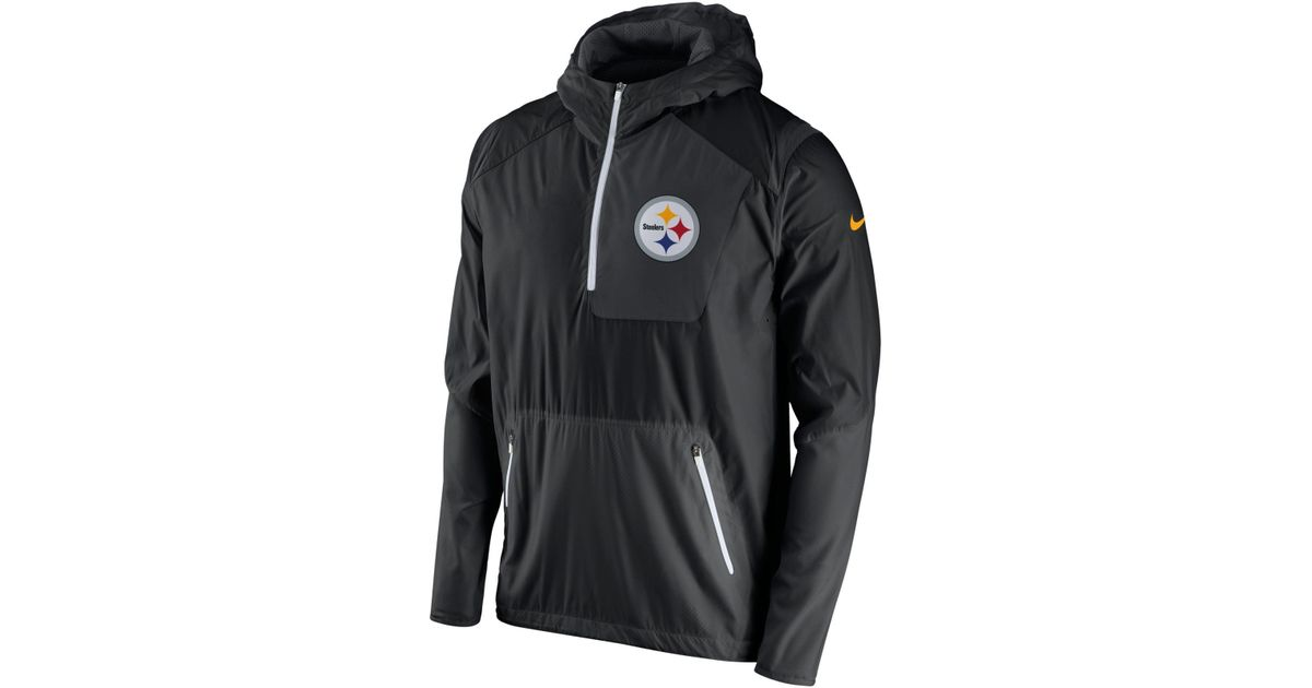 ade074eb3 Lyst - Nike Men s Pittsburgh Steelers Vapor Speed Fly Rush Pullover Jacket  in Black for Men