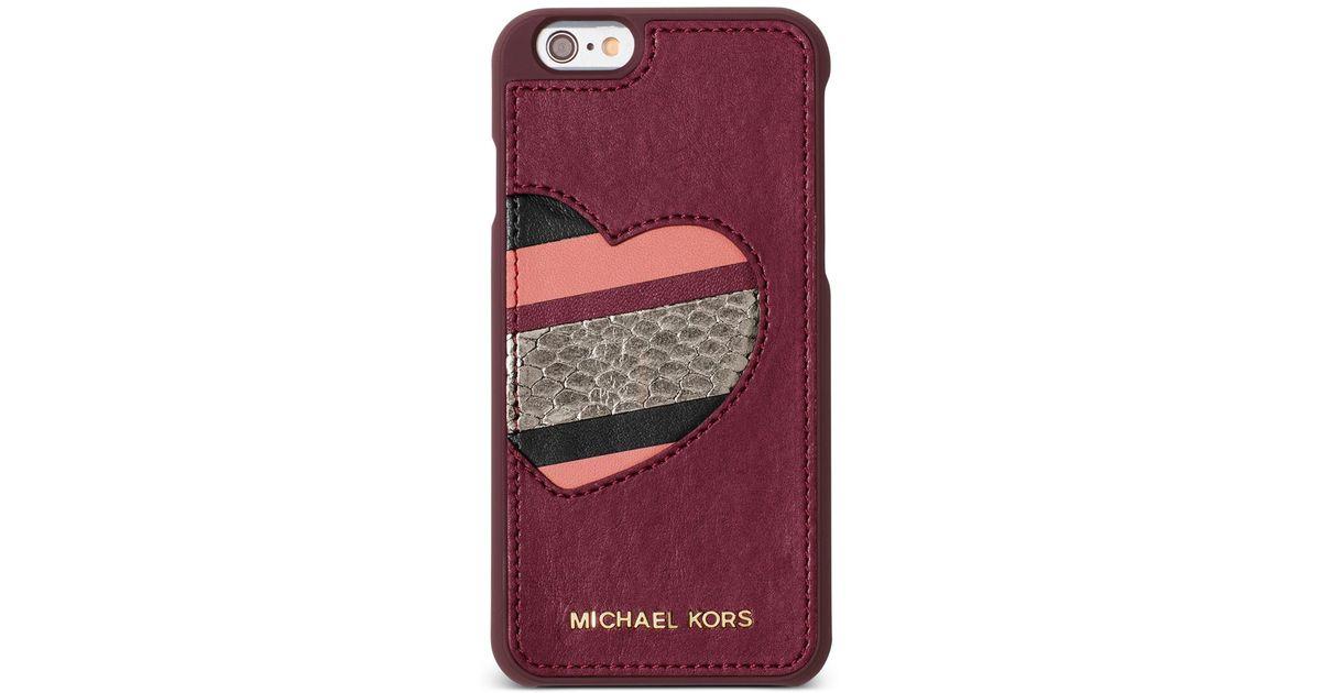 Michael kors michael electronics iphone 6 cover lyst for Housse iphone 6 michael kors