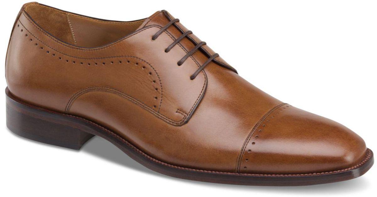 Johnston & Murphy Men's Sanborn Cap-Toe Lace-Up Oxfords Men's Shoes 2iNow