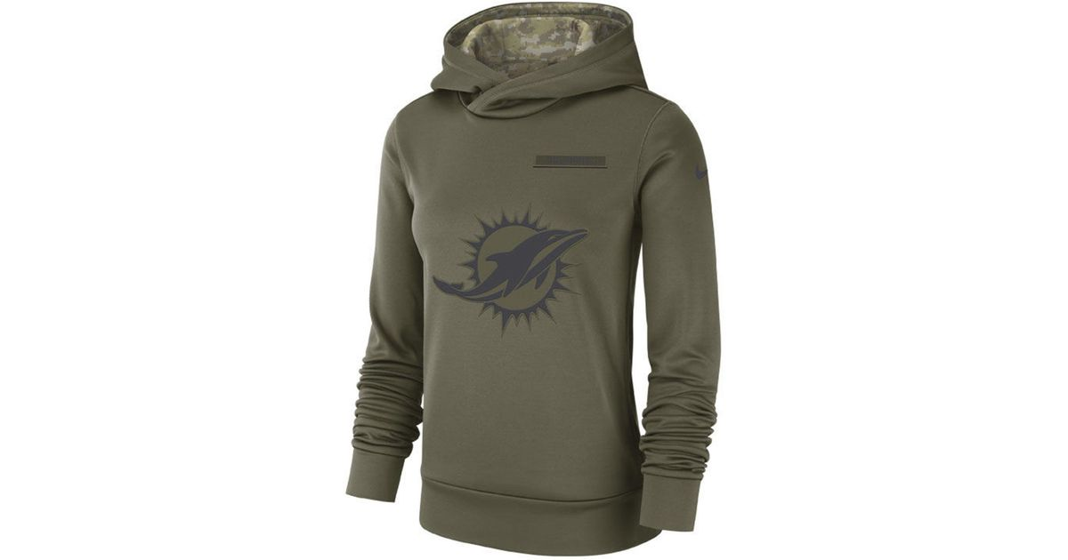 brand new 6dea2 53867 Nike - Green Miami Dolphins Salute To Service Therma Hoodie - Lyst