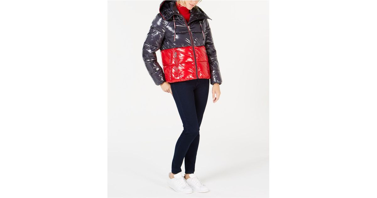 a448bb36 Tommy Hilfiger Zip Front Jacket in Red - Lyst