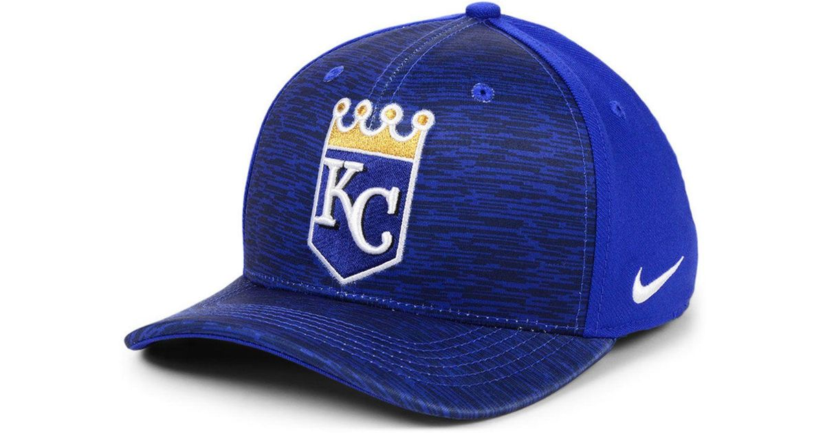 new style 51b9d 8bf72 Nike Kansas City Royals Velocity Swooshflex Stretch Fitted Cap in Blue for  Men - Lyst