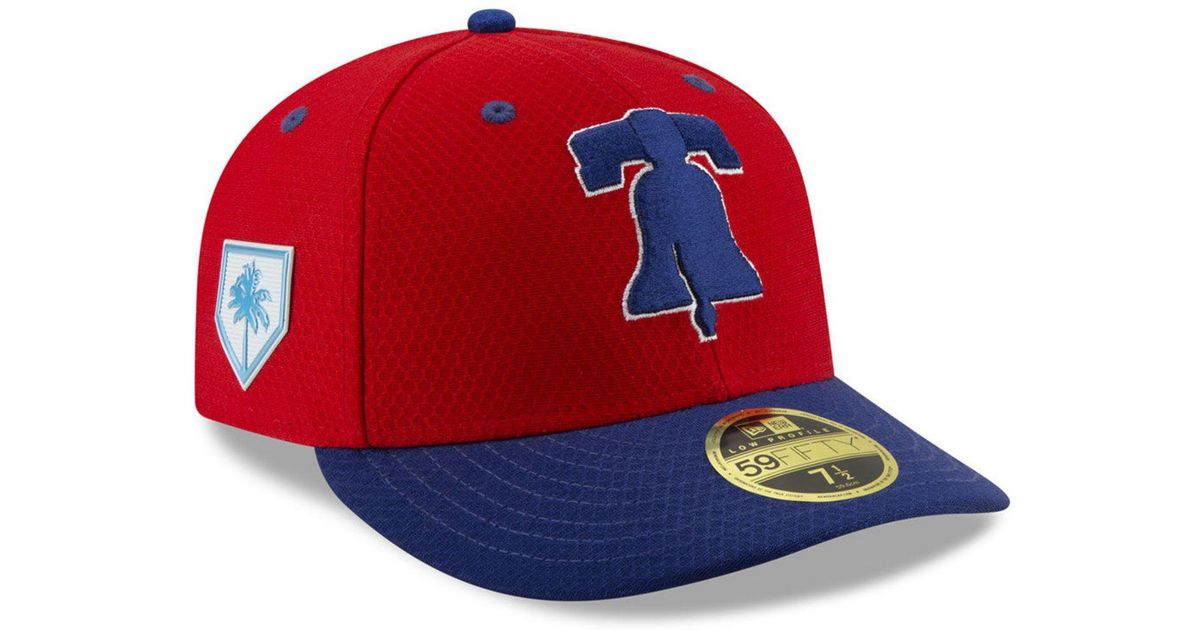 967944fd6f0 Lyst - KTZ Philadelphia Phillies Spring Training 59fifty-fitted Low Profile  Cap in Red for Men