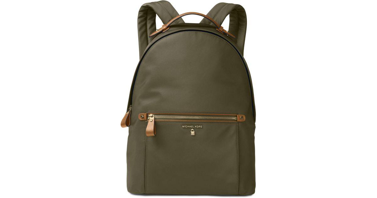 009138f0c31f ... spain michael kors kelsey large backpack in green for men lyst 2556b  64b82
