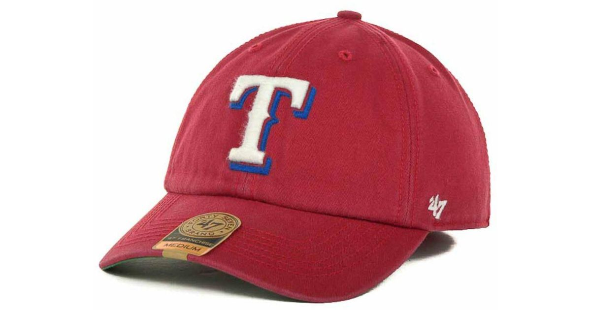 best website d21a3 60f27 ... coupon code for lyst 47 brand texas rangers mlb 47 franchise cap in red  for men