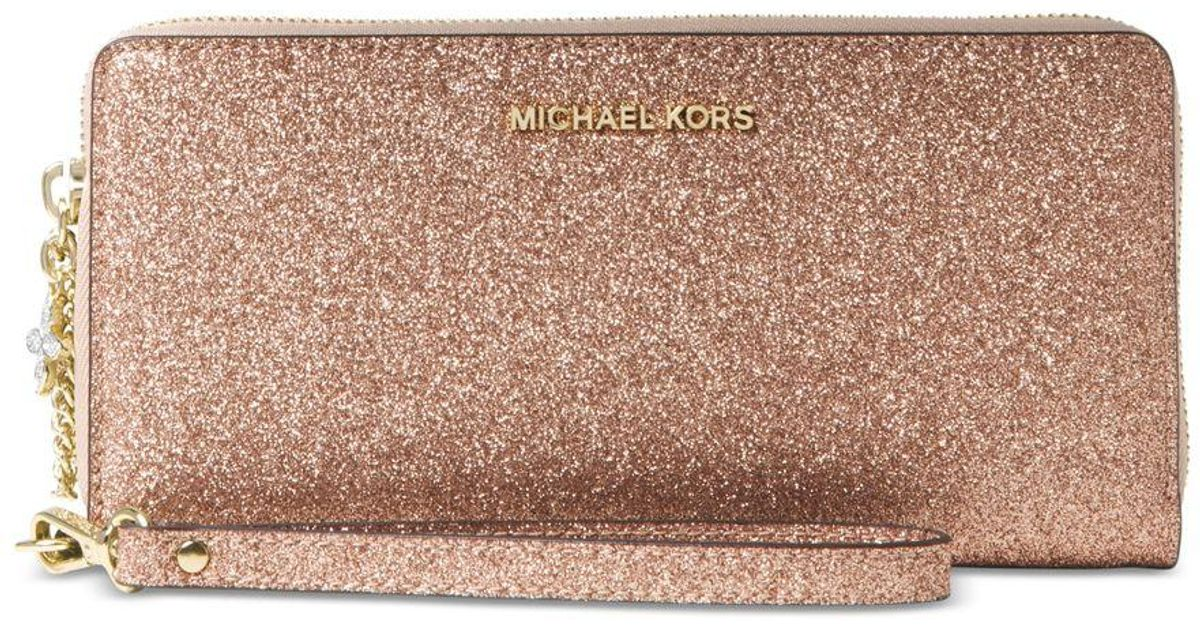 fc033f805fdd ... cheap lyst michael kors michael alex travel continental wallet in pink  189b8 6fd0a