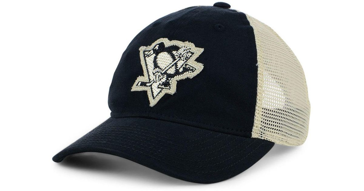 729993b0b288a ... inexpensive lyst adidas pittsburgh penguins sun bleached slouch cap in  black for men 55d22 71617