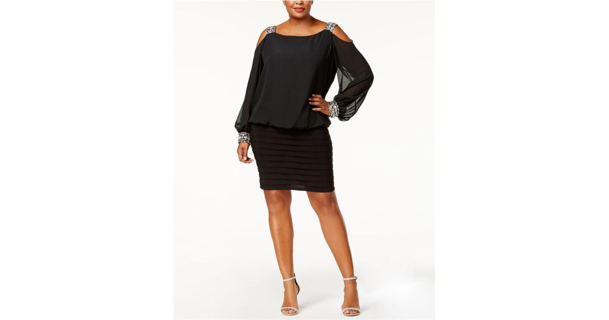 Lyst Betsy Adam Plus Size Cold Shoulder Embellished Blouson