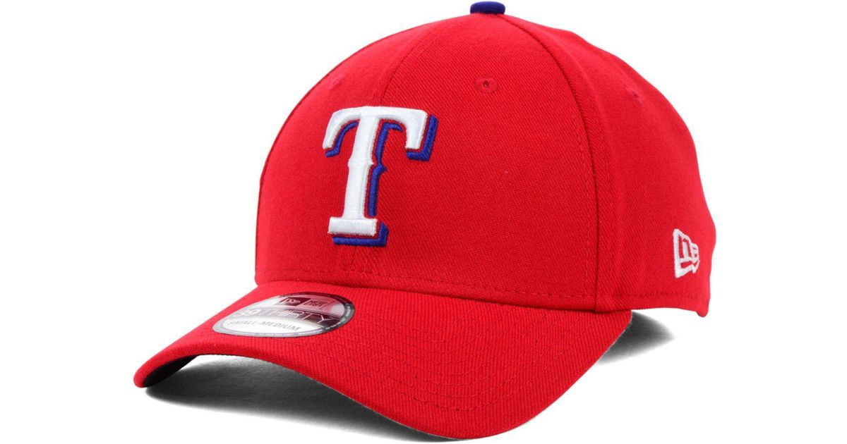 competitive price 5839a b3893 ... denmark lyst ktz texas rangers mlb team classic 39thirty cap in red for  men b84da f5df0 ...