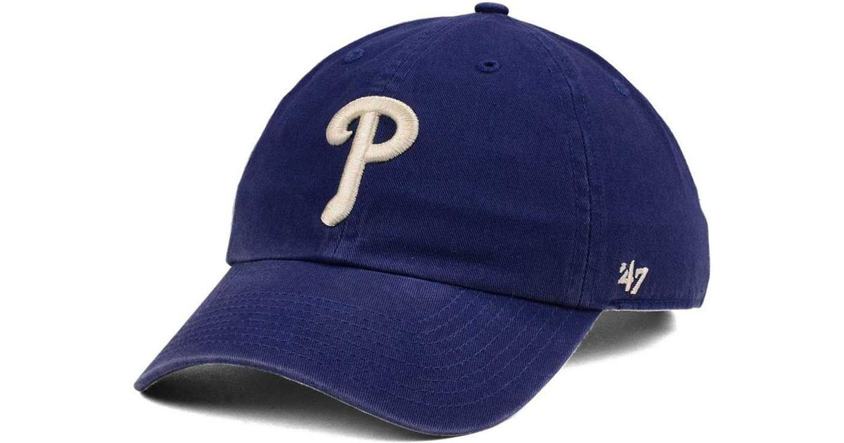 online store 61ebe 1acf0 47 Brand Philadelphia Phillies Timber Blue Clean Up Cap in Blue for Men -  Lyst