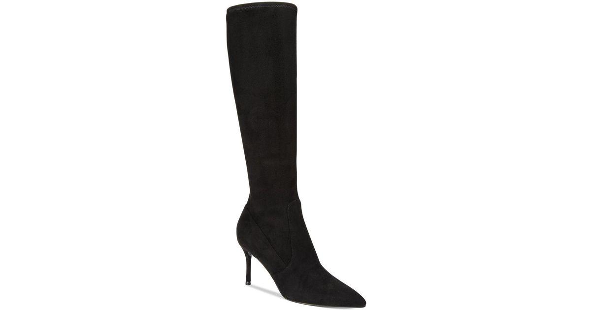 261aa9355692 Lyst - Nine West Calla Wide Calf Tall Dress Boots in Black