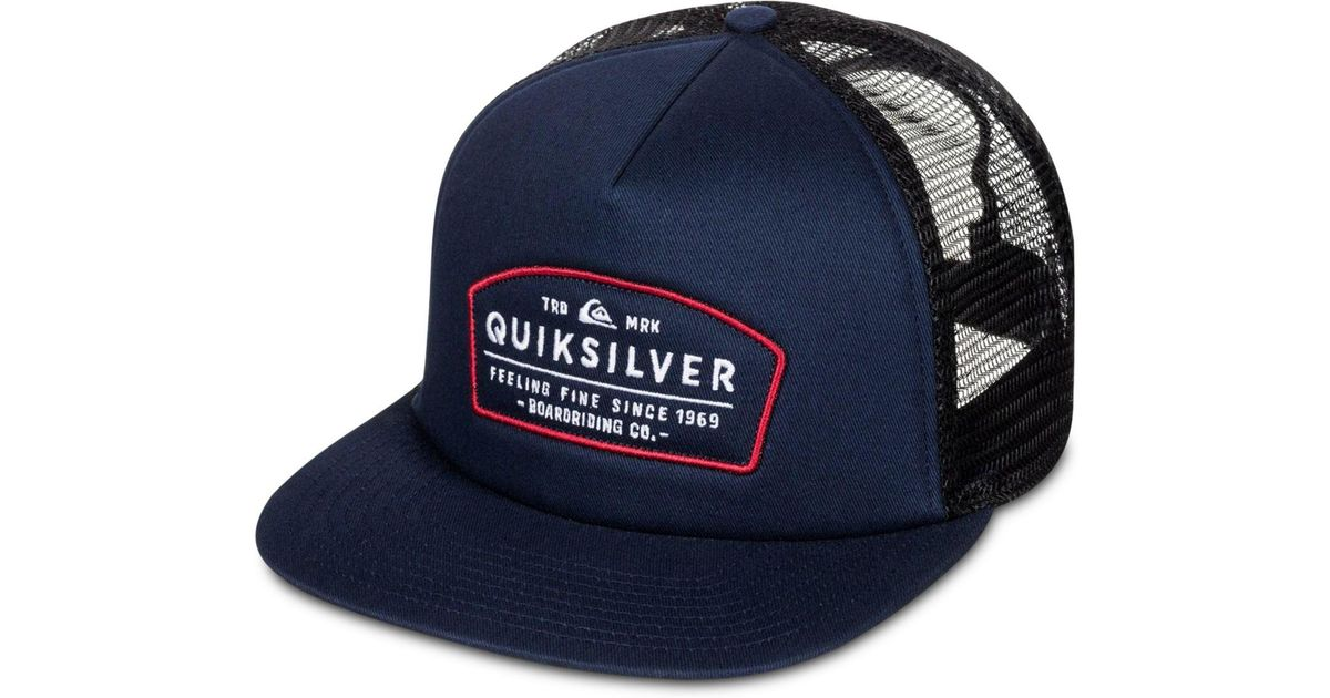 ca72df5ebe1 ... best price lyst quiksilver mens reeder trucker hat in blue for men  cbdc9 7c047