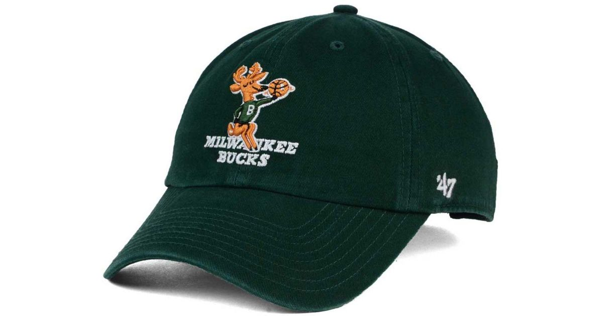 af375eaf03e Lyst - 47 Brand Milwaukee Bucks Hardwood Classics Clean Up Cap in Green for  Men