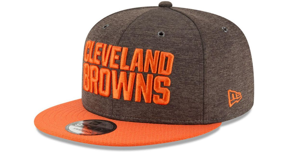best service cbace dc76c ... sweden lyst ktz cleveland browns on field sideline home 9fifty snapback  cap for men 34458 611a4