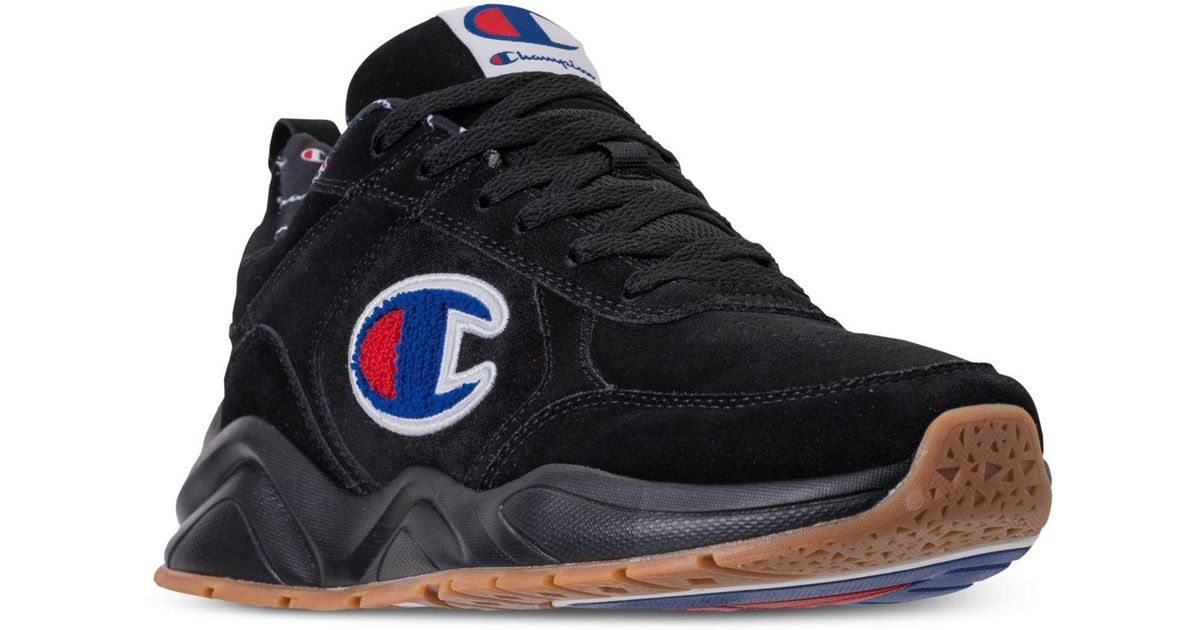 0a010d6f385 Lyst - Champion 93eighteen Suede Chenille Athletic Training Sneakers From  Finish Line in Black for Men