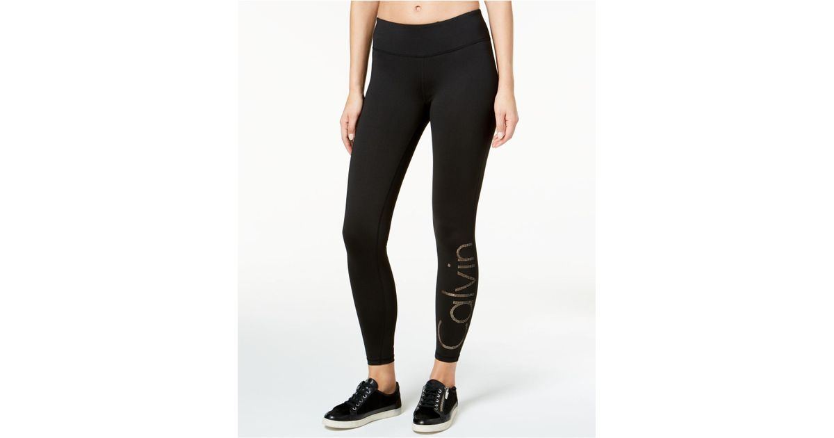 44fa007379 CALVIN KLEIN 205W39NYC Gradient-dot Logo Leggings in Black - Lyst