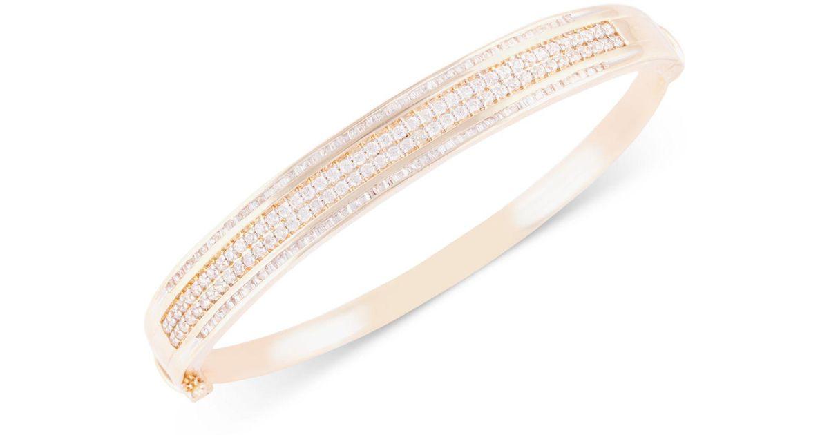 Lyst Macy S Diamond Bangle Bracelet 2 Ct T W In 10k Gold In