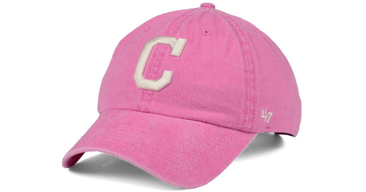 competitive price 63f9a 91612 47 Brand Pink Cleveland Indians Summerland Clean Up Cap