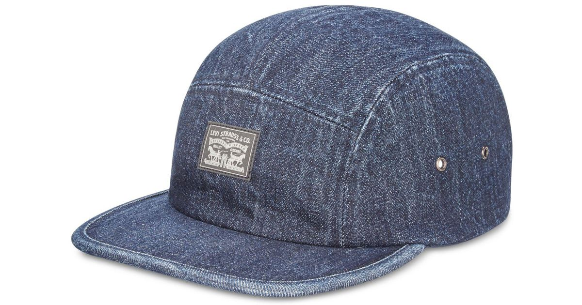 Lyst - Levi s Denim Camp Hat in Blue for Men ab0b2f0297d