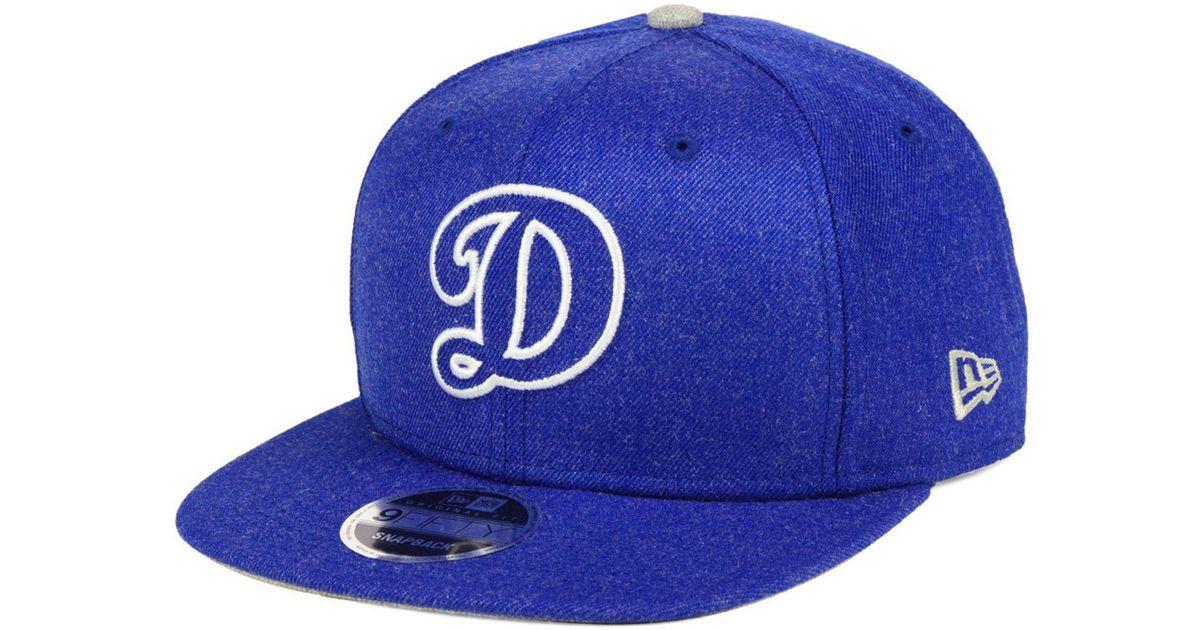 Lyst - KTZ Los Angeles Dodgers Heather Hype 9fifty Snapback Cap in Blue for  Men 2e74e454ec98