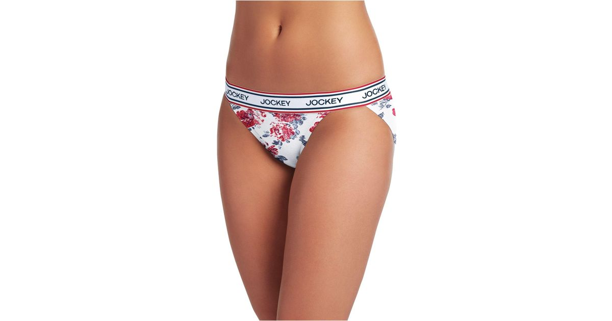e826aac10e65 Lyst - Jockey Retro Stripe String Bikini 2252, First At Macy's, Also  Available In Extended Sizes in White