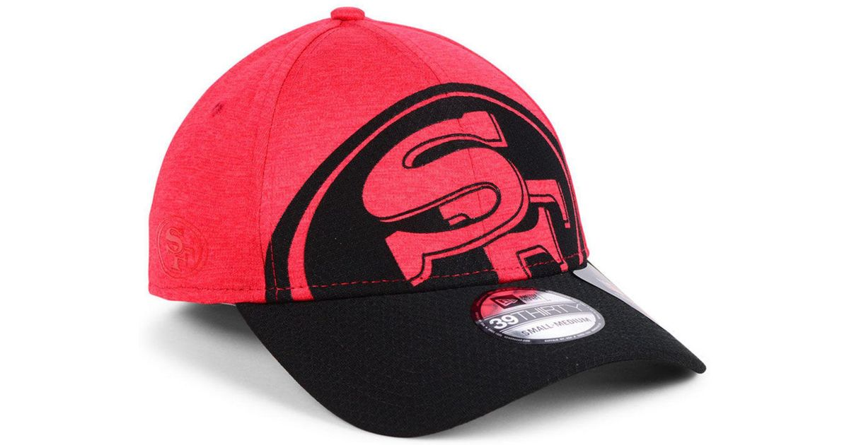outlet store 4f063 669ad KTZ San Francisco 49ers Oversized Laser Cut Logo 39thirty Cap in Red for Men  - Lyst