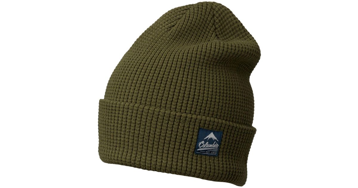 8110024caf7 Lyst - Columbia Lost Lager Waffle Beanie in Green for Men
