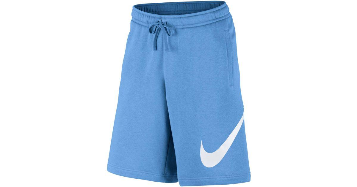Lyst - Nike Club Fleece Sweat Shorts in Blue for Men 949b81bd70f4