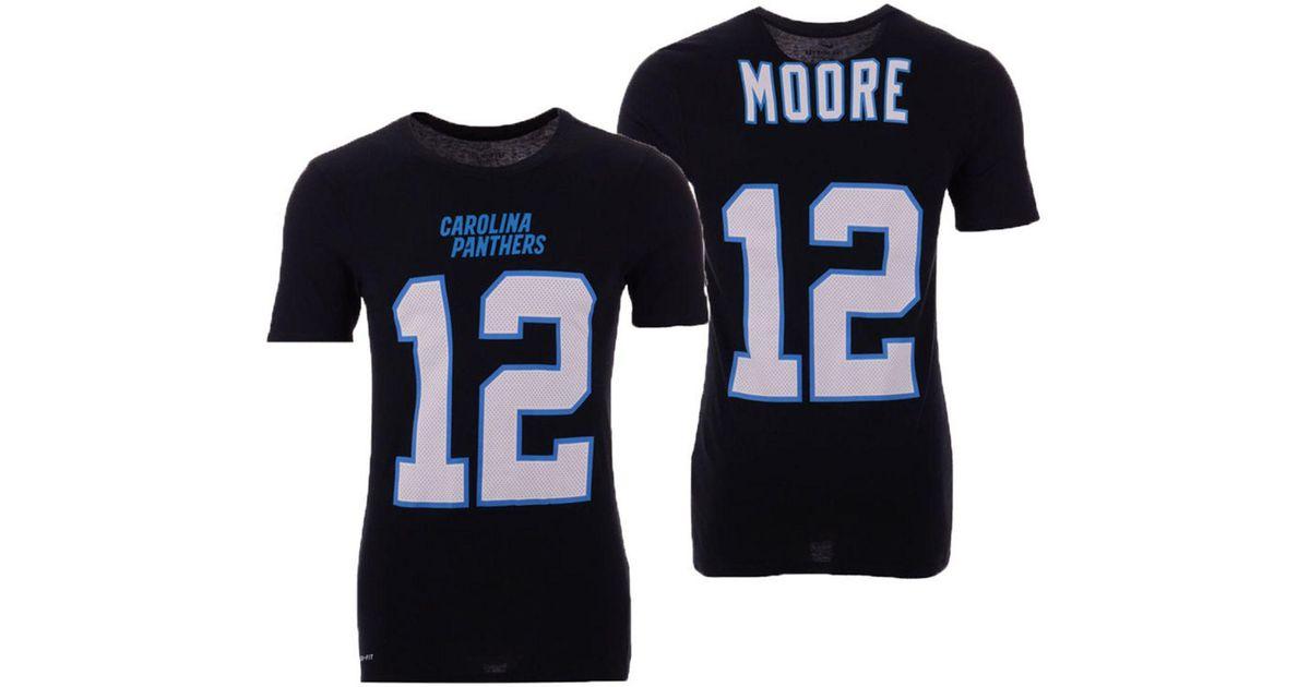 buy popular 1e6f0 37068 Nike - Black D.j. Moore Carolina Panthers Pride Name And Number Wordmark  T-shirt for Men - Lyst