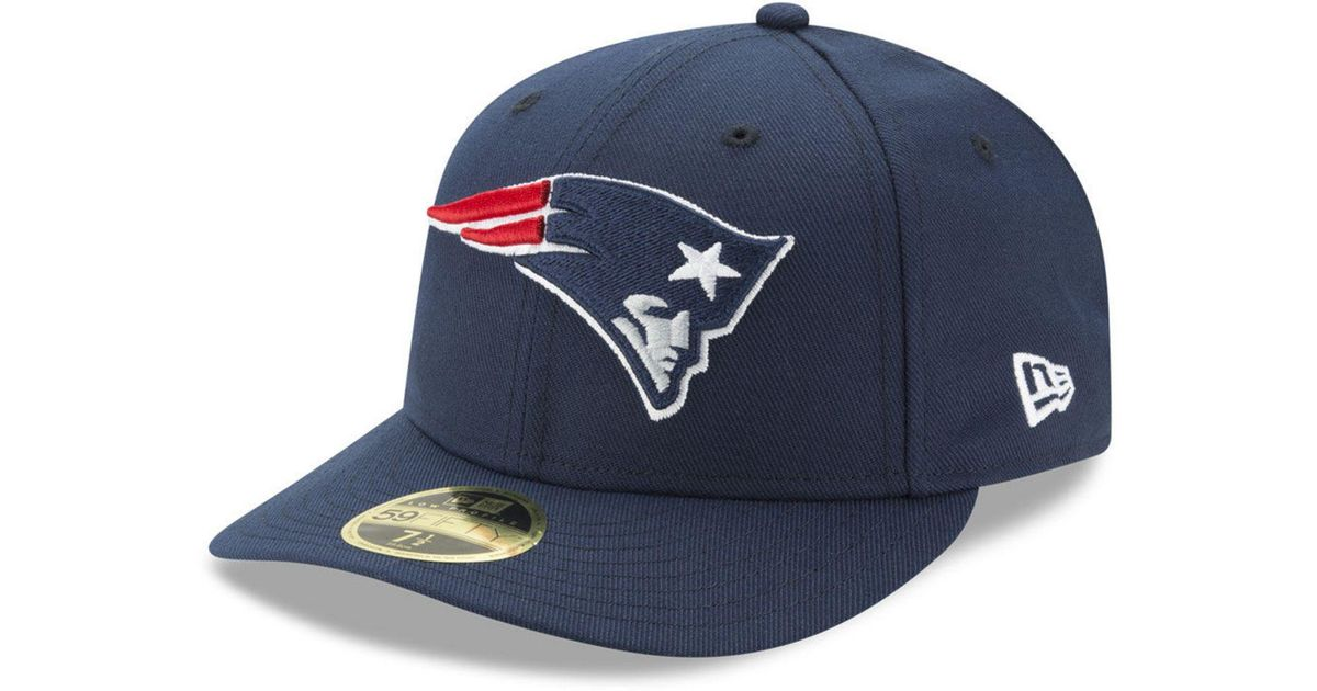055e6f9df08 Lyst - Ktz New England Patriots Team Basic Low Profile 59fifty Fitted Cap  in Blue for Men