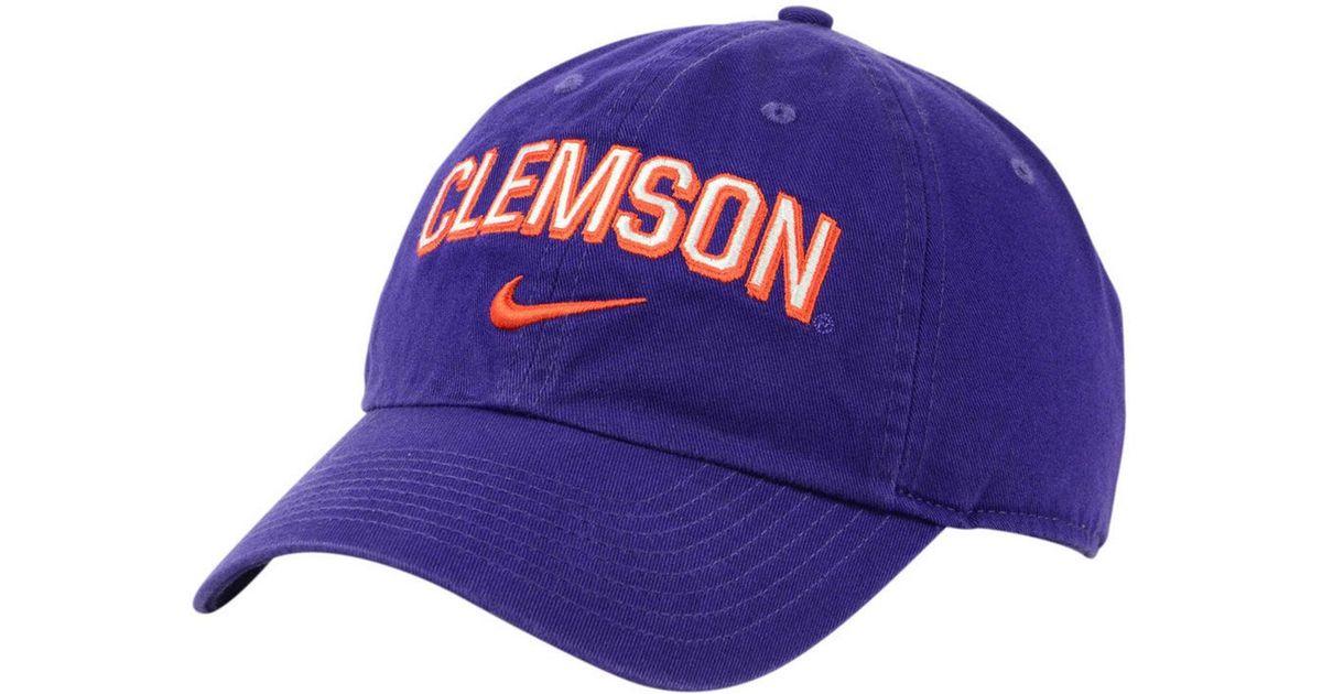 save off 163df b56bf Lyst - Nike Clemson Tigers H86 Wordmark Swoosh Cap in Purple for Men