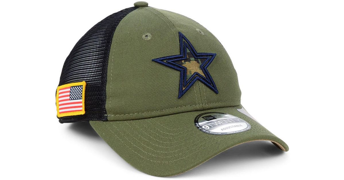 Lyst - Ktz Dallas Cowboys Nfl Camo Service Patch 9twenty Trucker Cap in  Green for Men d1143263f