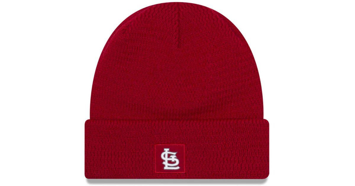 63c76773ef0548 ... coupon code for lyst ktz st. louis cardinals sport knit hat in red for  men