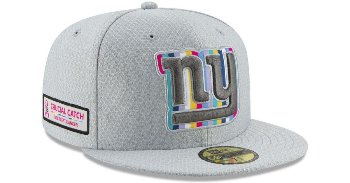 online retailer 97094 ecff4 KTZ New York Giants Crucial Catch 59fifty Fitted Cap in Gray for Men - Lyst