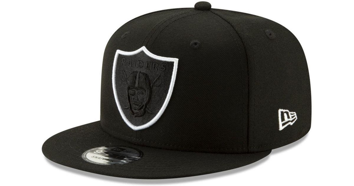 95807a91e2c6d5 KTZ Oakland Raiders Logo Elements Collection 9fifty Snapback Cap in Black  for Men - Lyst