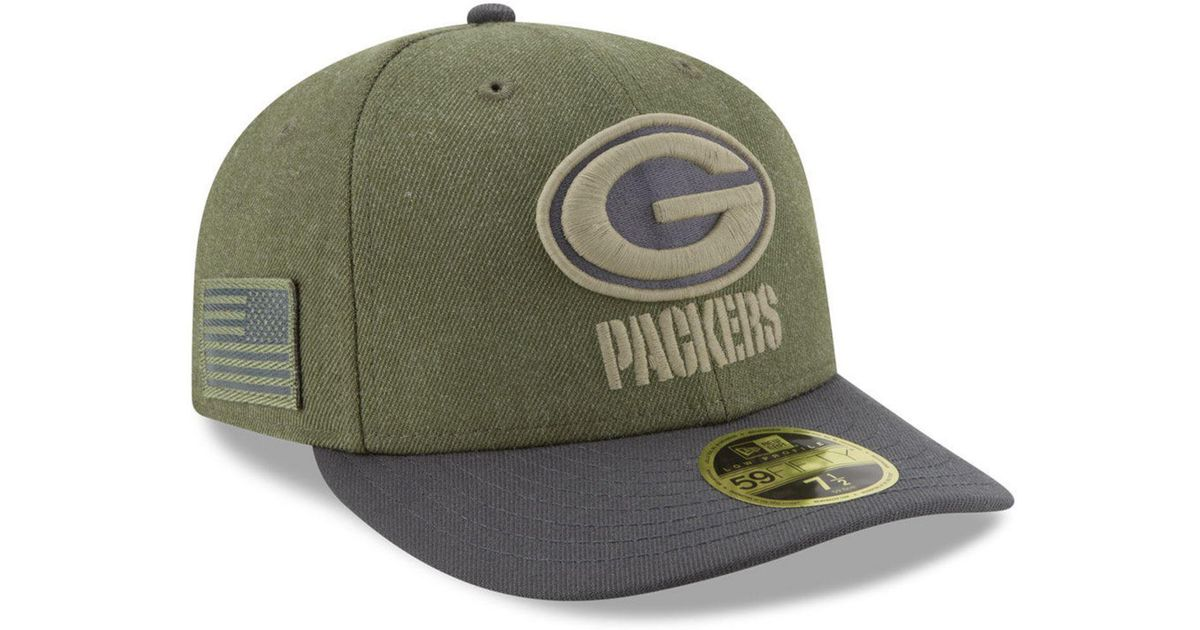 Lyst - KTZ Green Bay Packers Salute To Service Low Profile 59fifty Fitted  Cap 2018 in Green for Men a64f99094