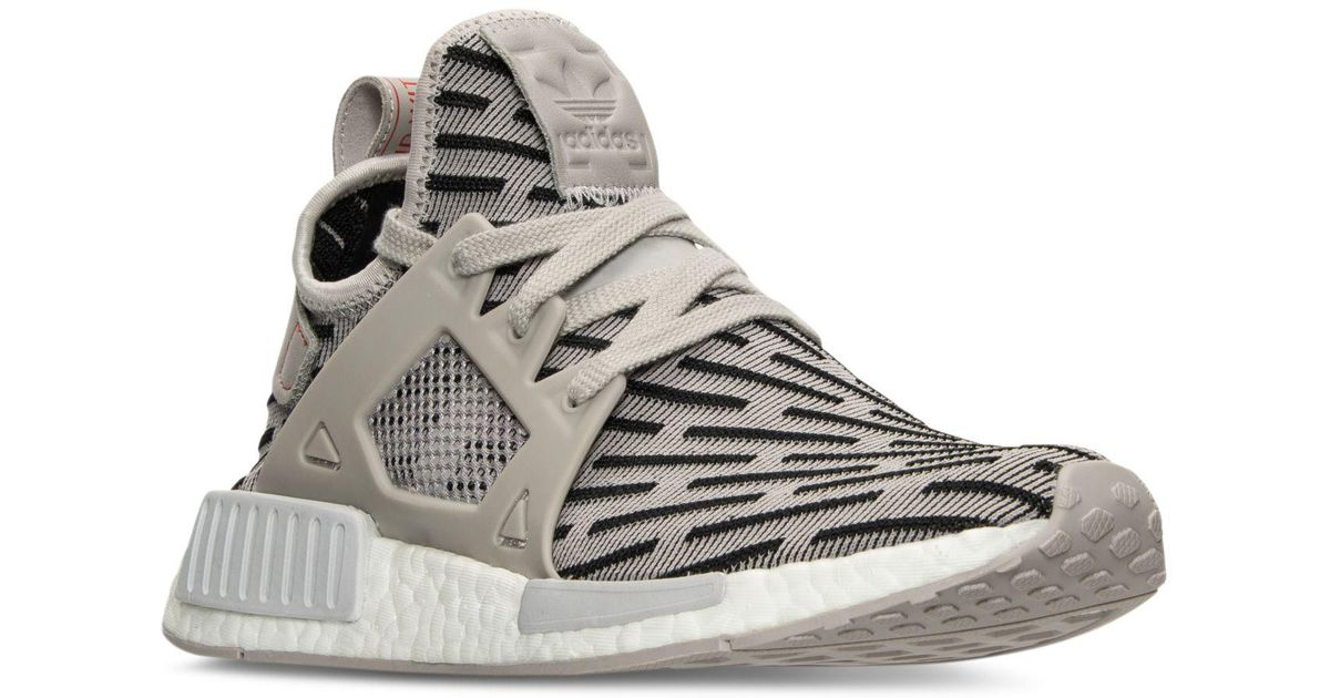 8ccfab1f81b47 Lyst - adidas Women s Nmd Xr1 Primeknit Casual Sneakers From Finish Line in  Gray