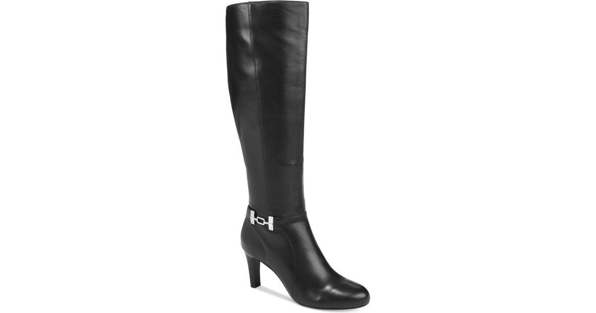cdad70dc026 Lyst - Bandolino Lamari Wide-calf Dress Boots in Black