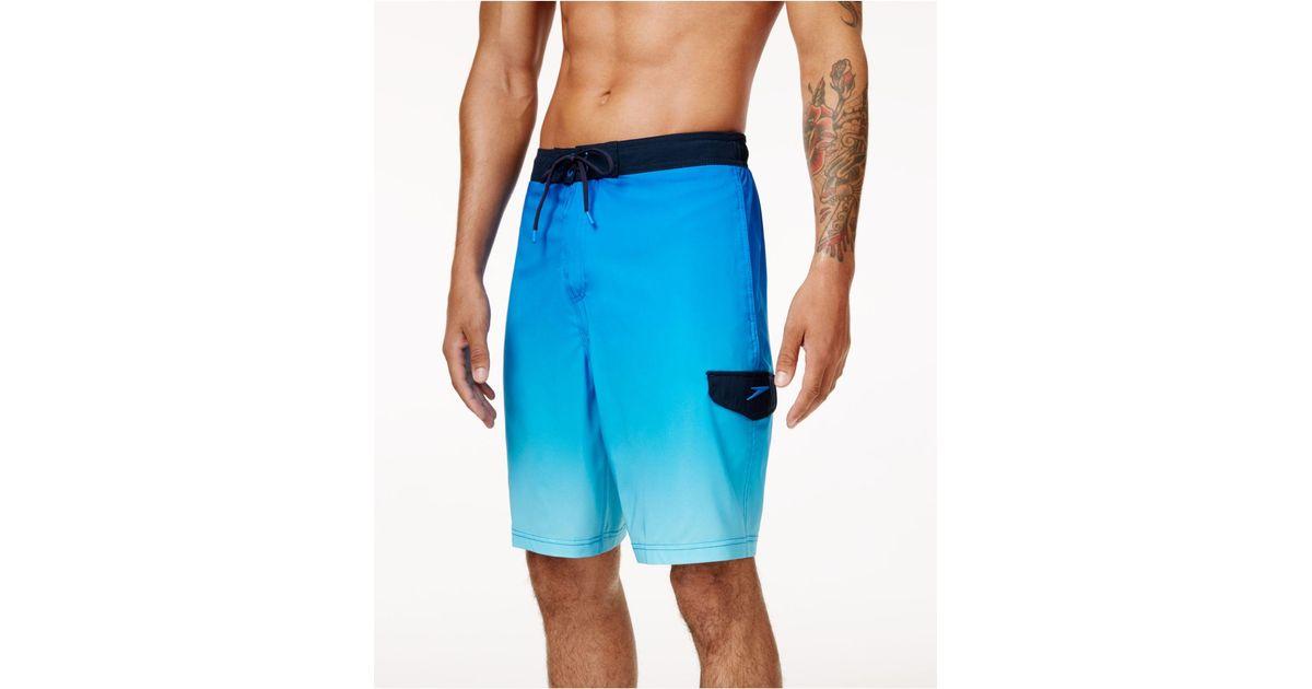 fd8e3050710ad Lyst - Speedo Men's Vaporplus Swim Shorts in Blue for Men