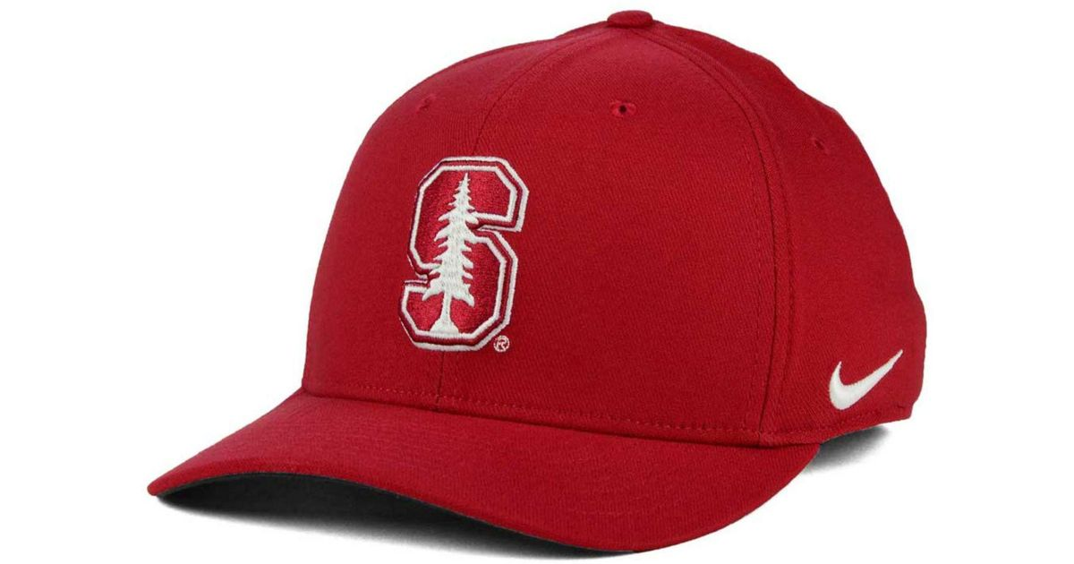watch 7807e 2a3b5 Nike Stanford Cardinal Classic Swoosh Cap in Red for Men - Lyst
