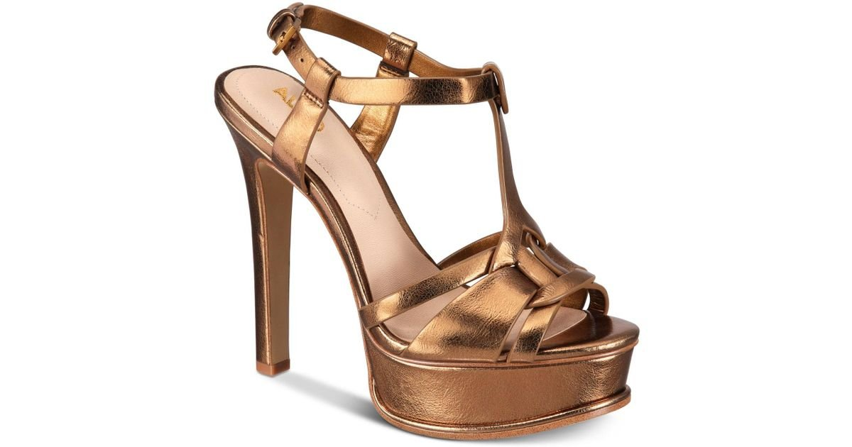 4a74d0930ea Lyst - ALDO Chelly Platform Dress Sandals